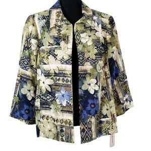 Alfred Dunner women plus size 16W floral jacket